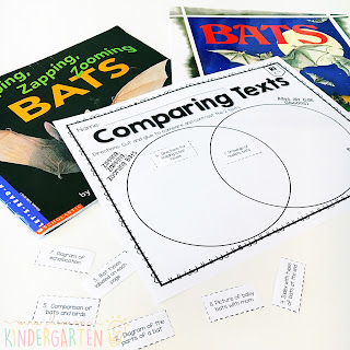 We love reading and learning about bats in our kindergarten classroom, but planning meaningful comprehension activities can be a challenge. This Bat: Read & Respond pack made it super easy to teach 5 comprehension skills for 5 of our favorite picture books. Students especially love the themed crafts and writing prompts too!