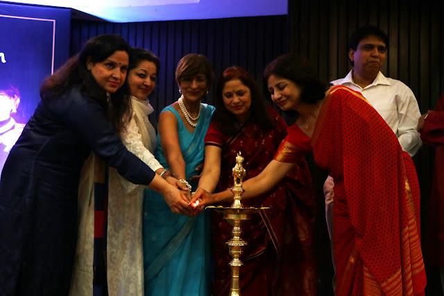 Lamp Lighting by Aleena Itrat, suparna trikha, Dr. Mridula Tandon, Mamta Kiran, Manisha Anmol, Zeeshan Niyazi, Laxmi Shankar Bajpayi (1)