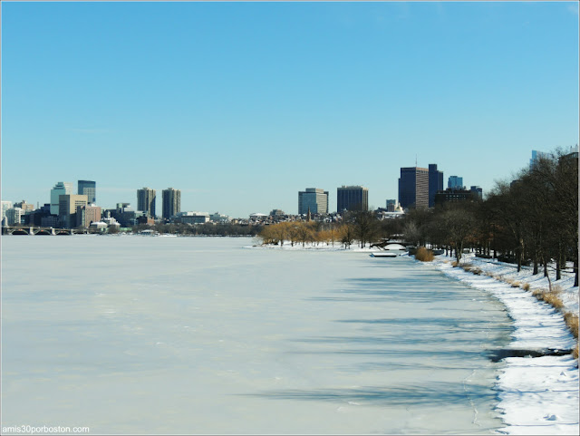 Boston desde el Harvard Bridge