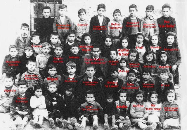 Juzbado escuela década 50
