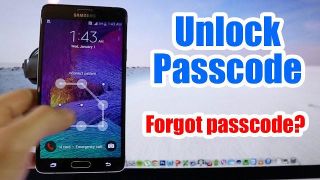 طريقة تخطى باسوورد أو نمط أو Pin Code لجميع هواتف الأندرويد