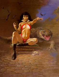 Frank Frazetta – Vampirella Pin Up Artwork and More