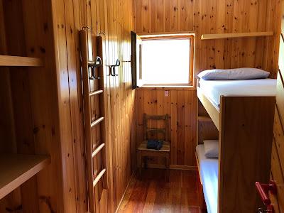 Two-person room at Rifugio Calvi.