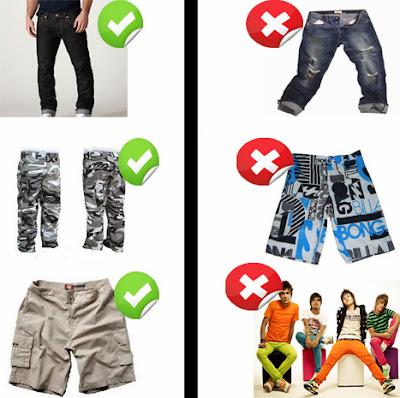 bermudas e calças para homens