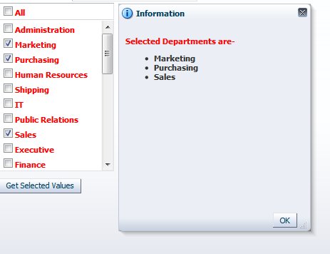 Using Multiple Selection (selectManyListbox & selectManyCheckbox