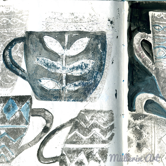 Aus Falschen Tassen Werden Echte Muster. Wer Hat Eine Ahnung, Mit Welcher  Drucktechnik Diese Tassen Entstanden Sind?