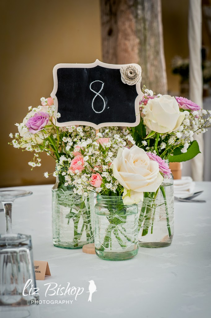 rustic centre pieces