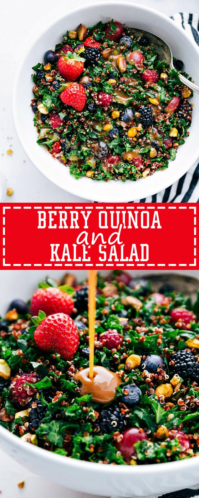 BERRY QUINOA AND KALE SALAD