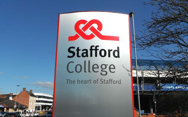 Stafford College sign