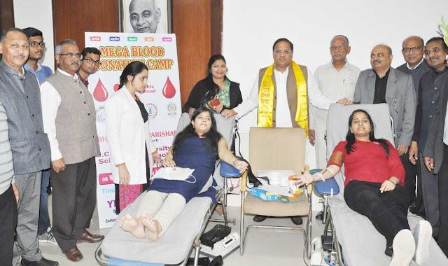 Organizing Blood Donation Camp at JC Bose University by Bharat Vikas Parishad