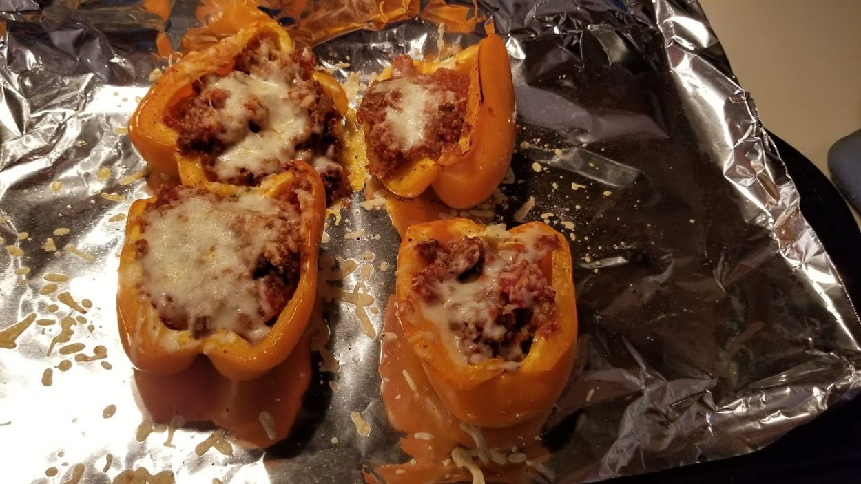 Hello Fresh Southwest stuffed peppers