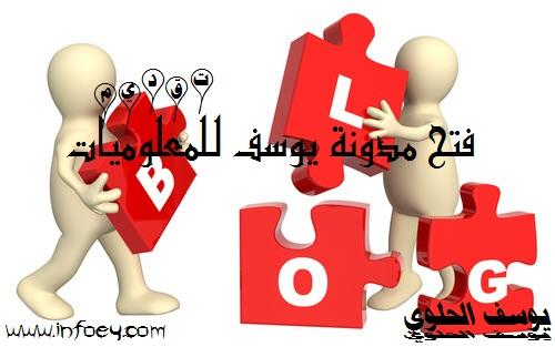 فتح مدونة الكترونية بلوجر و تقديم حول مدونة يوسف للمعلوميات | infoey