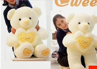 Boneka beruang love 9