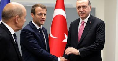 اردوغان والرئيس الفرنسي ماكرون