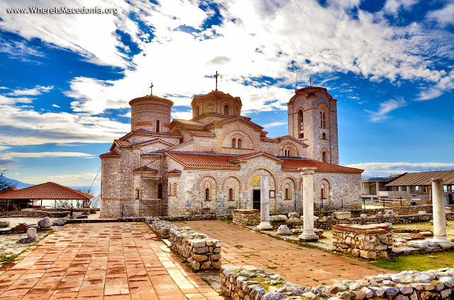 St Pantelejmon (Plaoshnik) church, Ohrid, Macedonia