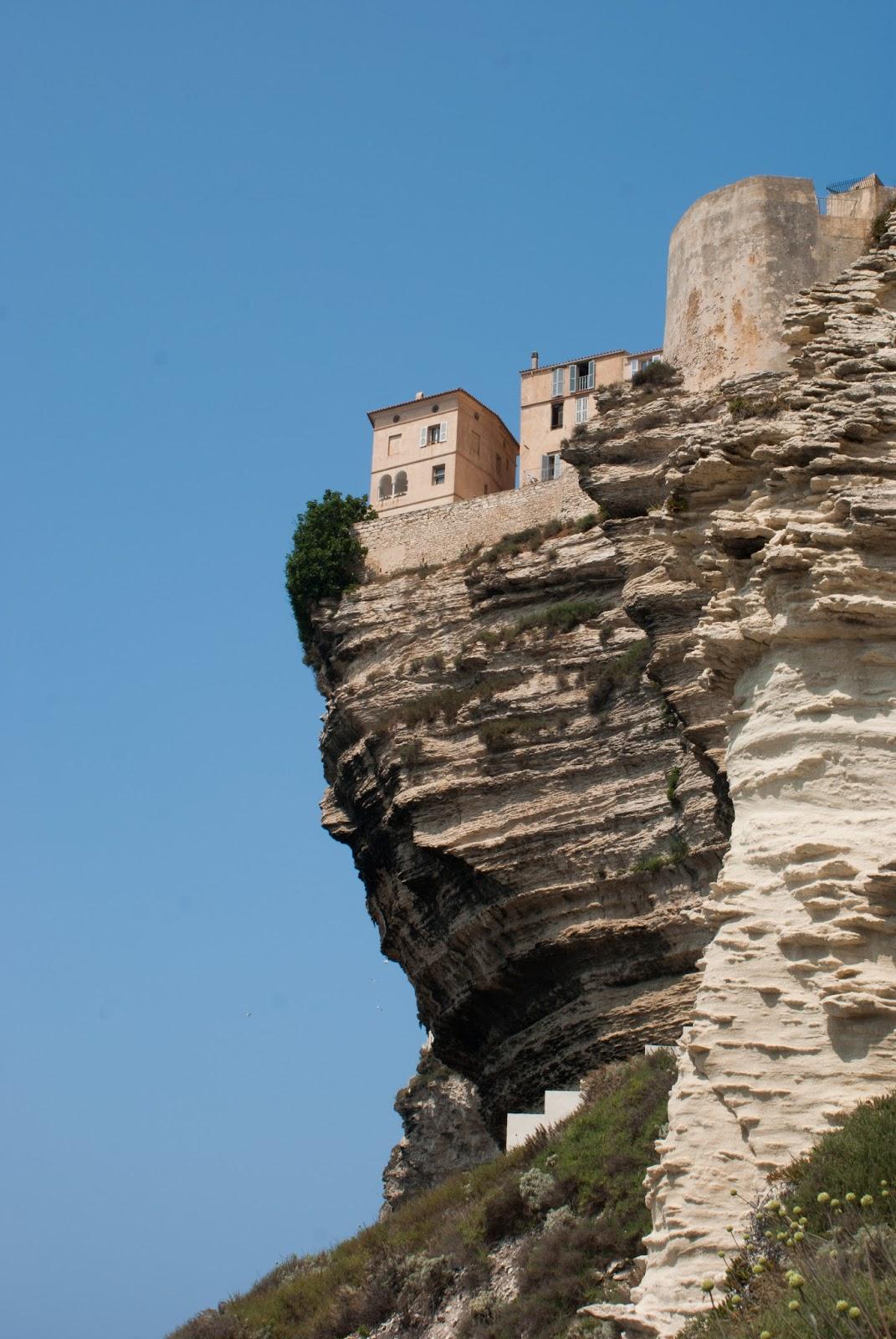 bonifacio corse corsica été falaise cliff mer sea