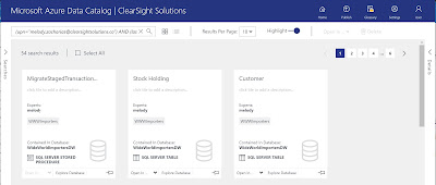 Azure Data Catalog – Asset Tiles