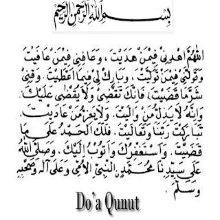 Bacaan Doa Qunut Pada Sholat Subuh Lengkap Arab Latin Dan