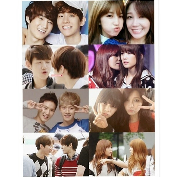 APink Fanpage: OTP couples of APink and other male idols.Eunji And Baekhyun