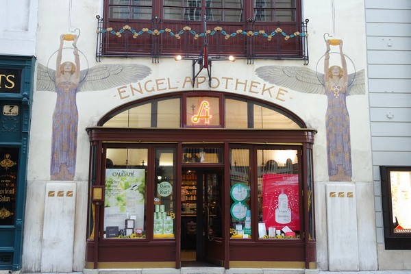 vienne innere stadt engel apotheke pharmacie art nouveau