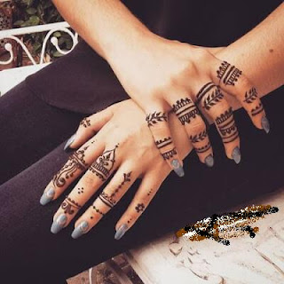 Latest Mehndi designs for fingers