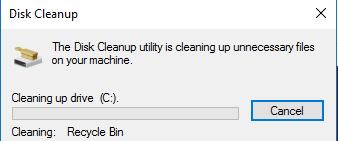 proses hapus disk cleanup
