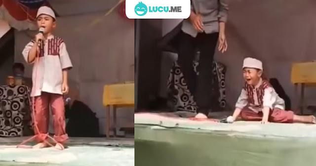4 Video Bocah Kesal di Atas Panggung Lomba Ini Bikin Ngakak
