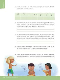 Apoyo Primaria Desafíos Matemáticos 5to Grado Bloque IV Lección 60 Sistema egipcio