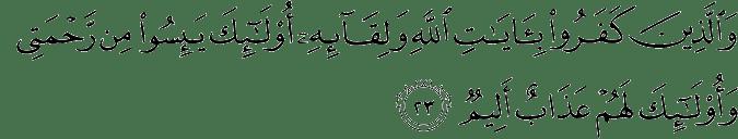 Surat Al 'Ankabut Ayat 23