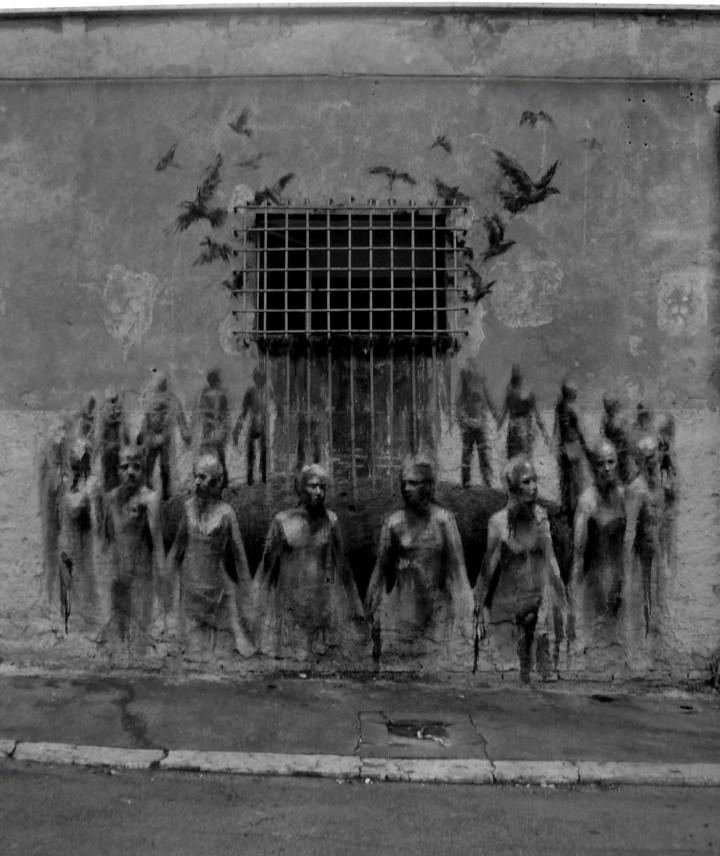 Классика на стенах. Borondo 18