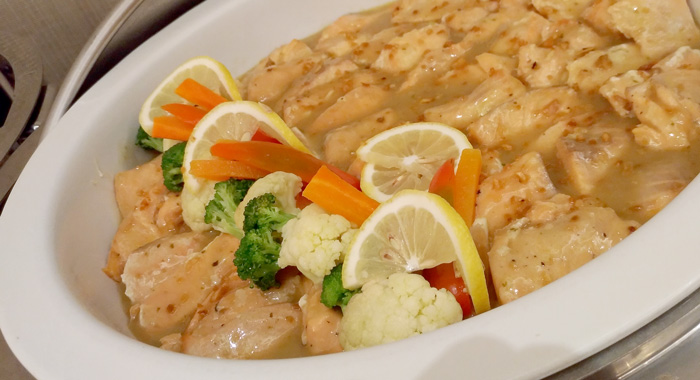 Salmon in Lemon Garlic Cream