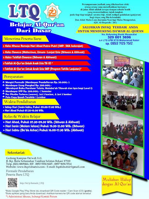Pendaftaran Program Tahsin 1439/1440H - 2018/2019M Dibuka
