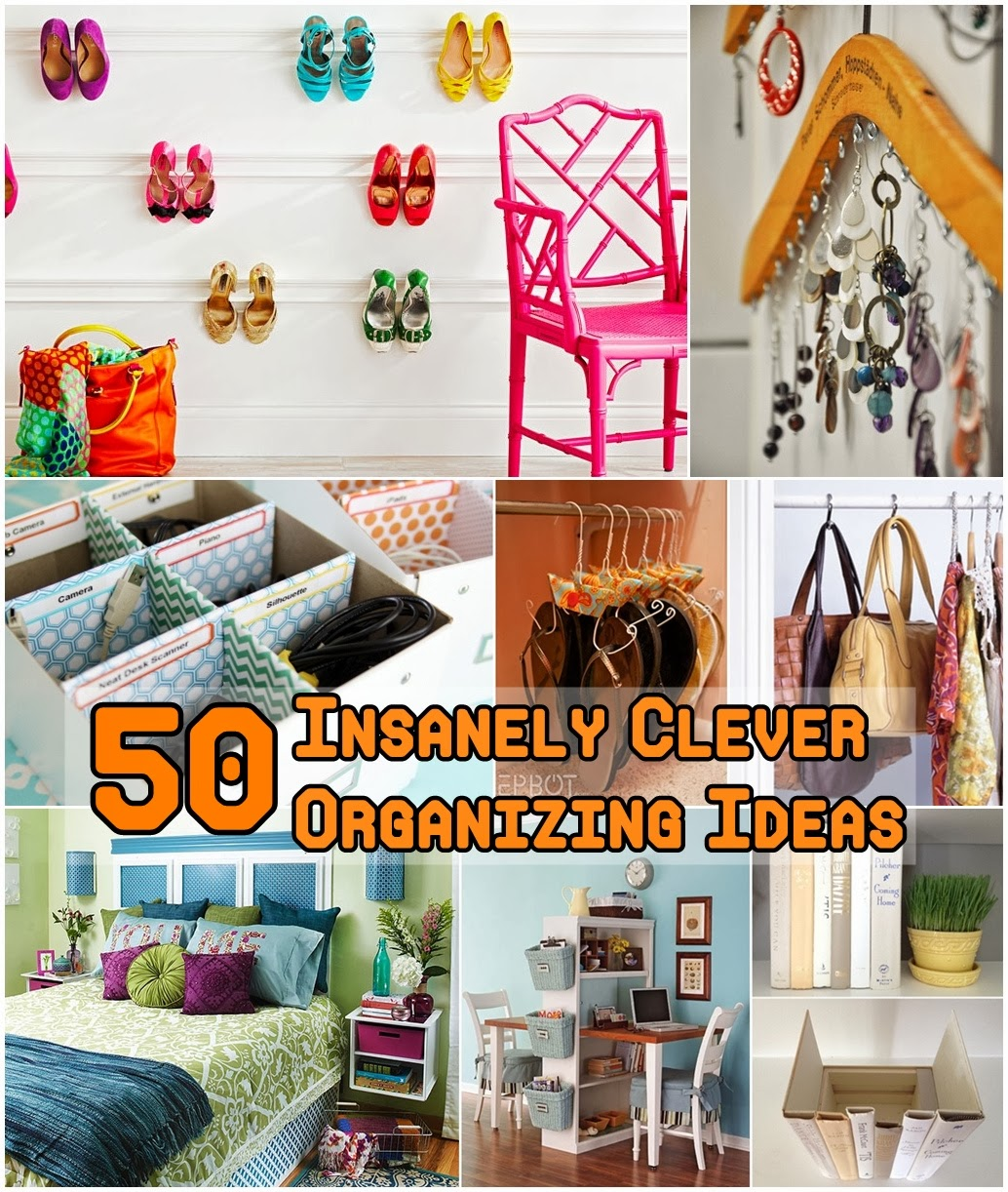 50 Insanely Clever Organizing Ideas - DIY Craft Projects