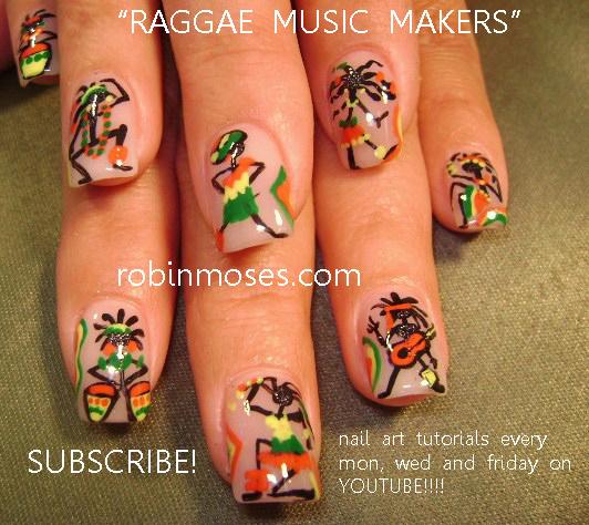 hemp fest nail art. reggae nail art. red yellow green and black nail art. rasta  nails, weed nail, - Hemp Fest Nail Art. Reggae Nail Art. Red Yellow Green And Black