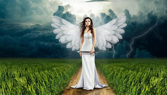 Cette femme ange munie d'un glaive n'aurait pas pu figurer dans le tarot des anges
