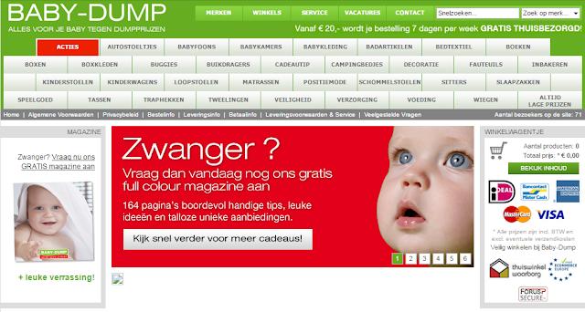 Oude webshop Baby-Dump