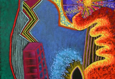 Close-up view of 'City of Lights'