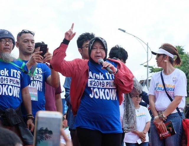 Risma Kampanyekan Jokowi di Hadapan Ribuan Alumni Perguruan Tinggi
