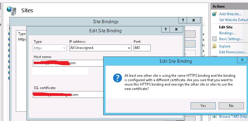 Server Name Indication (SNI) in Win 2012 Server / IIS 8 0