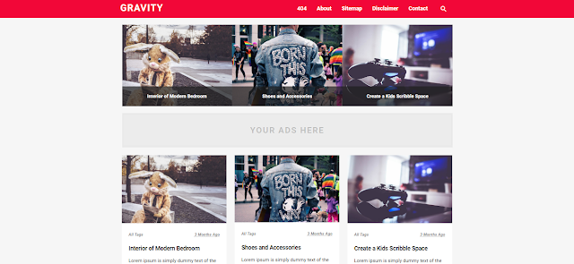 Graivity Blogger Template Red