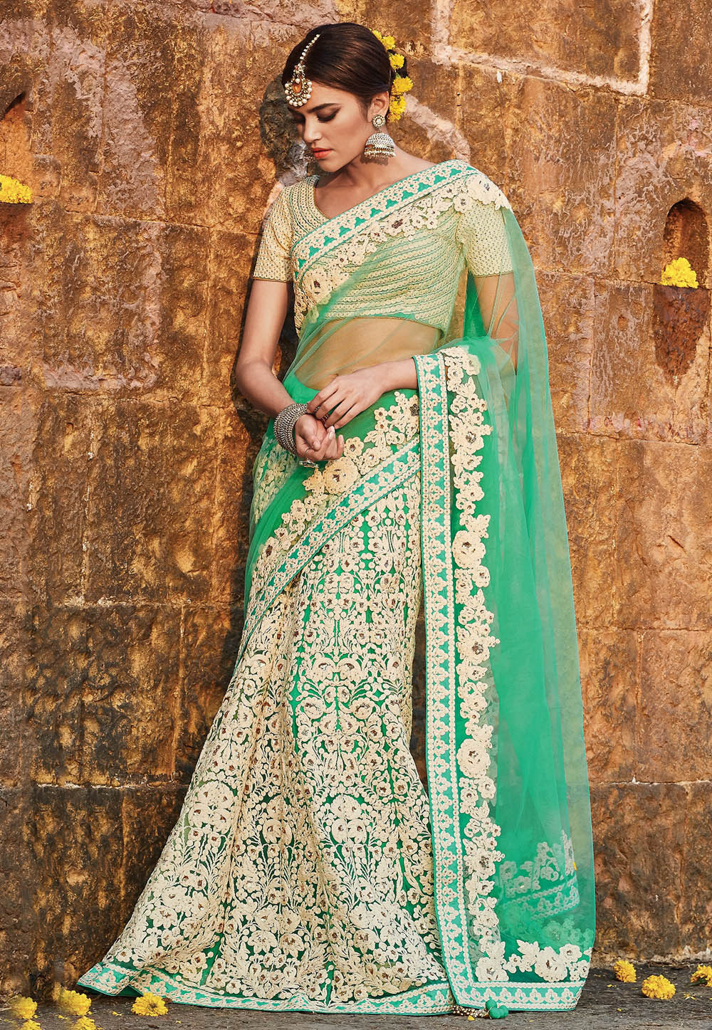 12 Indian Bridal Lehenga Style Sarees For The Modern Brides - Stylish Clothes for Women