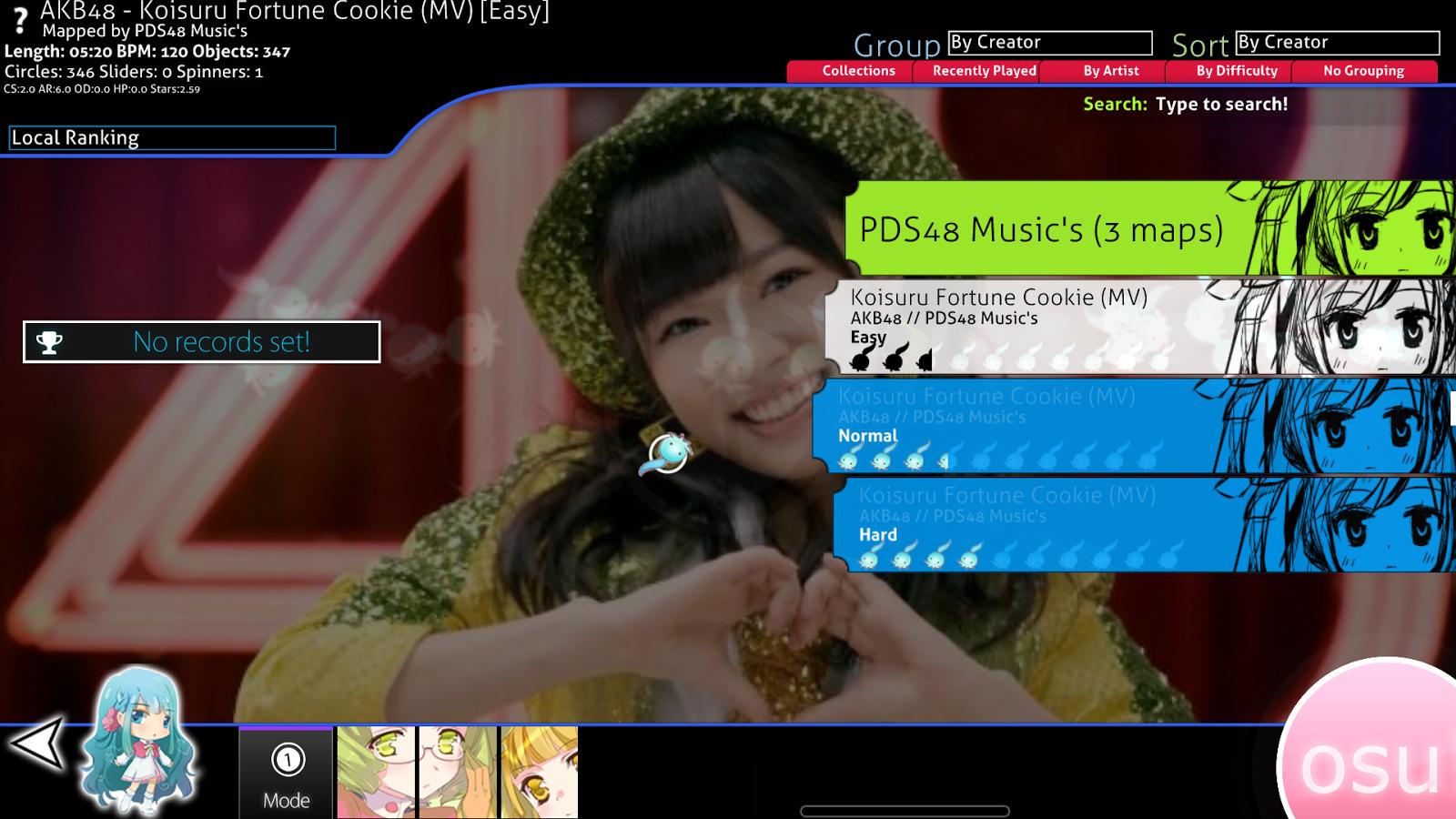 PDS0048 Musix Entertainment: [PC Game] Osu! Beatmap AKB0048 Mod