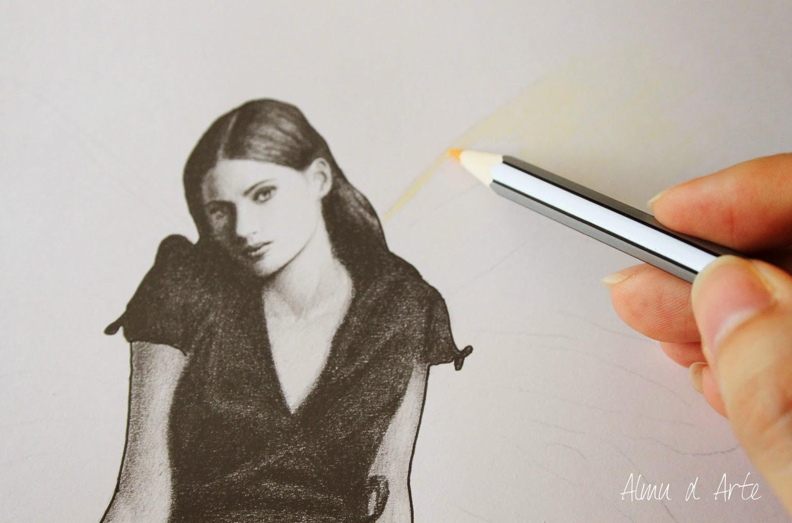 Dibujo con lápiz de color