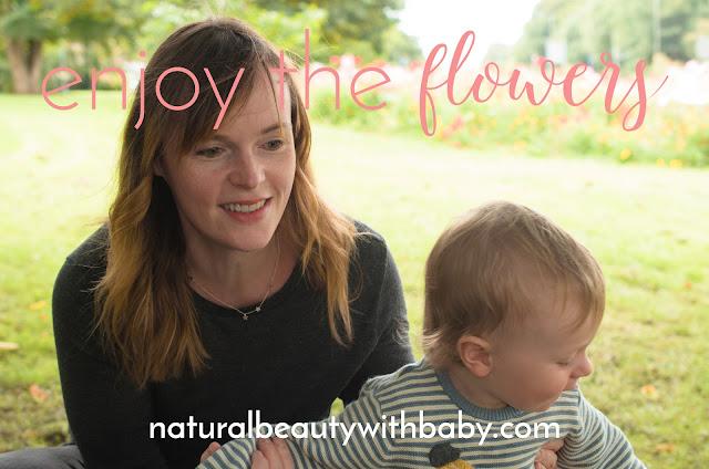 Enjoy the flowers – Jonah and mummy