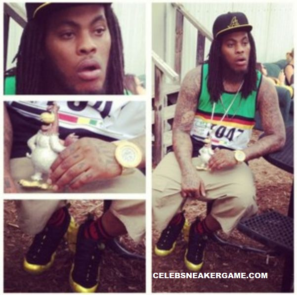 """352a154252415 Check out Waka Flocka Flame rockin a fresh pair of Nike Air Foamposite One  """"Electrolime"""" Sneakers"""