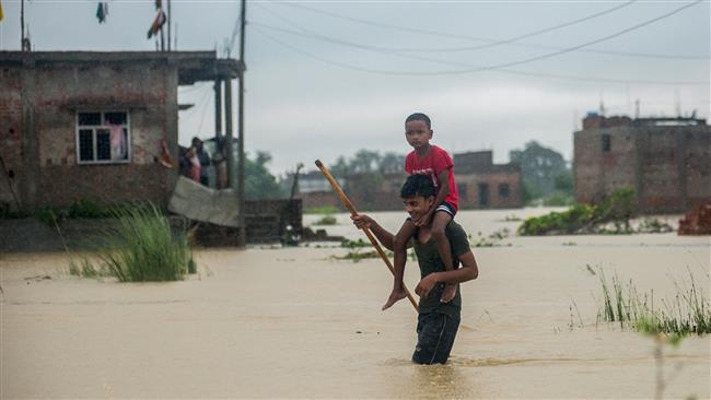 Floods, landslides kill over 55 in Nepal, India