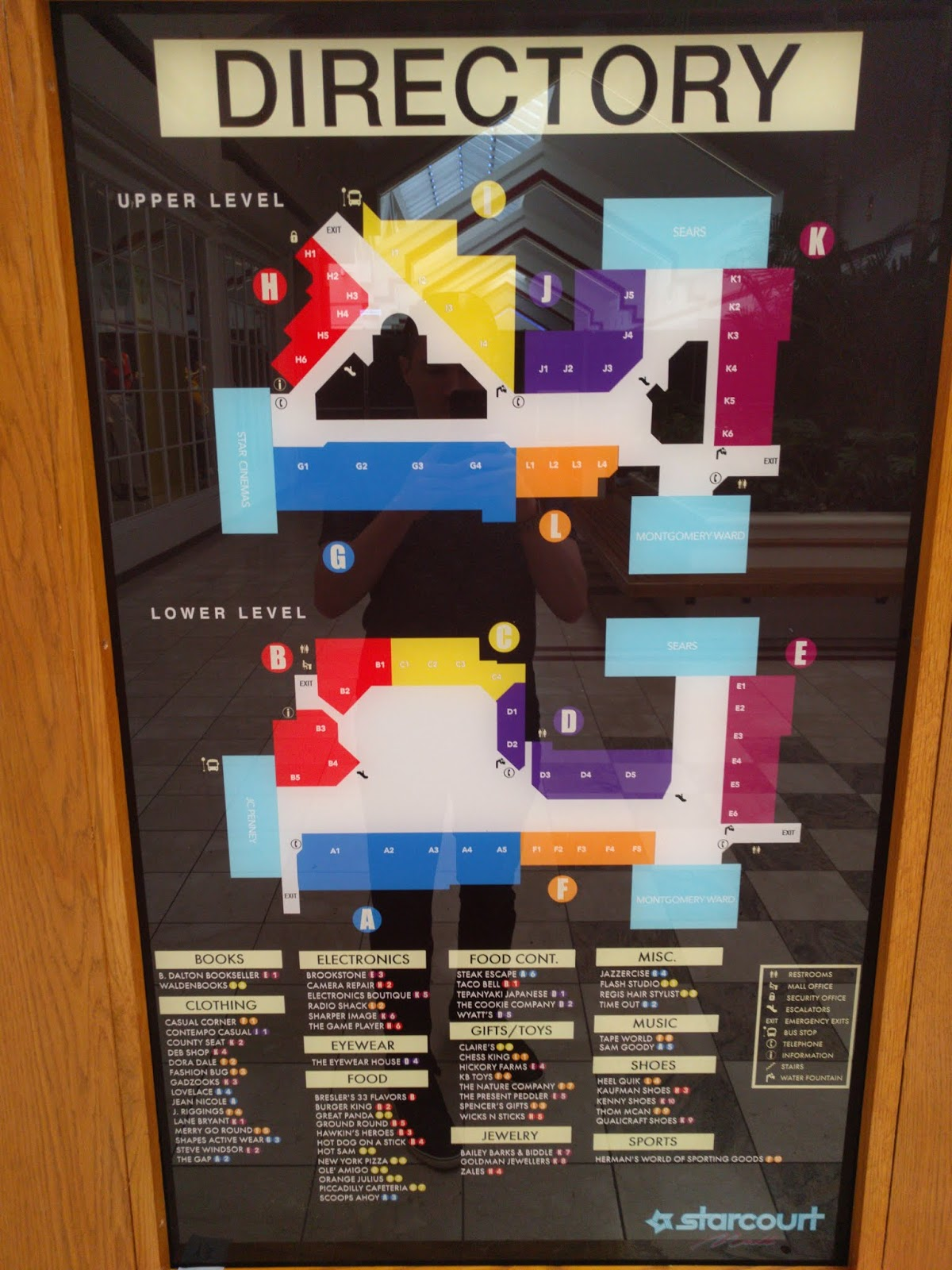 hight resolution of the fictional starcourt mall directory