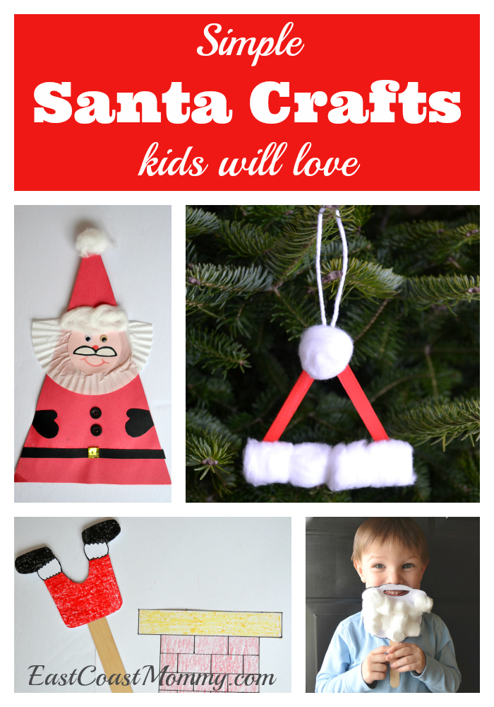 this simple santa beard craft is one of my favorite holiday crafts download the beard template here attach a craft stick to the back with white duct tape - Santa Crafts