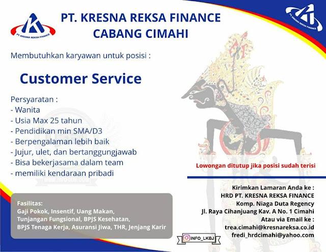 lowongan kerja customer service kresna reksa finance cabang cimahi bandung