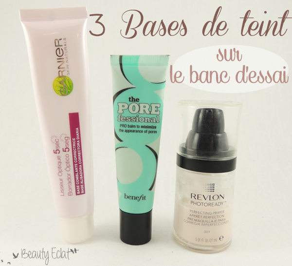 revue comparative base teint garnier benefit revlon